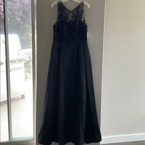 Black formal dress.